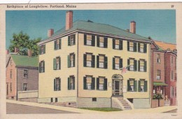 Maine Portland Birthplace Of Longfellow 1948 - Portland