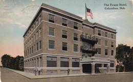 Nebraska Columbus The Evans Hotel 1914 Curteich - Columbus