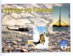 239115 KOSOVO Winter Helicopter Old KFOR Feldpost Postcard - Kosovo