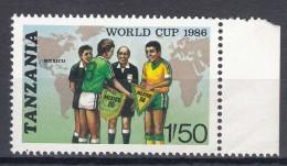 Tanzania 1986 Football Mi#342 Mint Never Hinged - Tanzanie (1964-...)