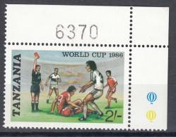 Tanzania 1986 Football Mi#343 Mint Never Hinged - Tanzanie (1964-...)