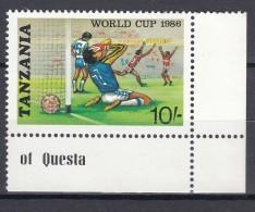 Tanzania 1986 Football Mi#344 Mint Never Hinged - Tanzanie (1964-...)