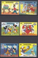 Tanzania 1988 Disney Mi#489-494 Mint Never Hinged Short Set - Tanzanie (1964-...)