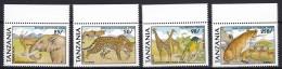 Tanzania 1991 Animals  Mi#885,887,888,889 Mint Never Hinged - Tanzanie (1964-...)