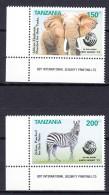 Tanzania 1992 Animals Mi#1434-1435 Mint Never Hinged - Tanzanie (1964-...)