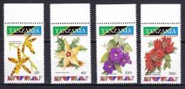 Tanzania 1993 Flowers Mi#1615,1617,1623,1625 Mint Never Hinged - Tanzanie (1964-...)