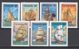 Tanzania 1994 Ships Boats Mi#1739-1745 Mint Never Hinged - Tanzanie (1964-...)