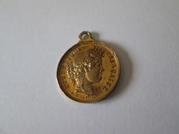 France Republic-Republique Francaise/Mini Medallion 1870:Proclaimed By National Will/Proclame Par La Volonte Nationale - France
