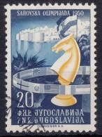 Yugoslavia Republic 1950 Chess Mi#620 Key Stamp, Used - Gebruikt
