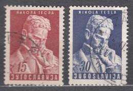Yugoslavia Republic 1953 Nikola Tesla Mi#712-713 Used - 1945-1992 Socialistische Federale Republiek Joegoslavië