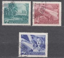 Yugoslavia Republic 1950 Mi#598-600 Used - 1945-1992 Socialistische Federale Republiek Joegoslavië