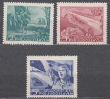 Yugoslavia Republic 1950 Mi#598-600 Mint Hinged - 1945-1992 Socialistische Federale Republiek Joegoslavië