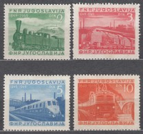 Yugoslavia Republic 1949 Railway Mi#583-586 Mint Hinged - 1945-1992 Socialistische Federale Republiek Joegoslavië