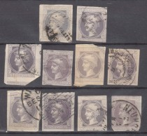Austria Old Newspaper, Zeitungs, Stamps, 10 Pieces - Usados