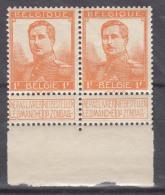 Belgium 1912 Mi#97 1 Fr. Orange, Mint Never Hinged Pair - 1912 Pellens