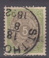 Denmark Danish Antilles (West India) 1876 Perf. 14/13,5 Mi#10 Yvert#10 Used - Dinamarca (Antillas)
