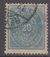 Iceland Island Ijsland 1882 Mi#14 A A, Perforation 14/13,5 Blue, Used - Oblitérés