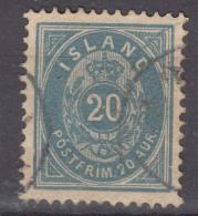 Iceland Island Ijsland 1882 Mi#14 B A, Perforation 12 3/4 Blue, Used - Oblitérés