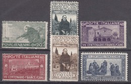 Italy Kingdom 1926 Sassone#S40 Mi#234-239 Mint Hinged - 1900-44 Vittorio Emanuele III