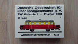 Zündholzschachtel Mit Eisenbahn-Motiv (Schienenbus) Aus Deutschland - Zündholzschachteln