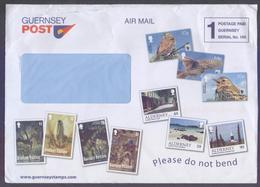 """GUERNSEY Postal History, Big COVER, Postage PAID """"1"""" (Serial No.100) Officially Used 2018 From POST Office - Guernsey"""