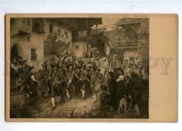 246492 DEFREGGER Homecoming Tyrolean Landsturm WAR Vintage PC - Illustrators & Photographers