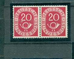 Bund Posthörnchensatz, Paar Nr. 130 Postfrisch ** - Neufs