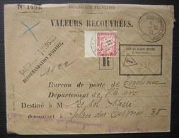 1922 Toulouse Valeurs Recouvrées Recommandation D'office Taxe à 30 Centimes - Marcophilie (Lettres)