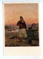 251749 POLAND Jozef Helmonsky Evening In Polesie Postcard - Other Illustrators