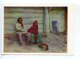 251753 POLAND Alexander Gerymsky Peasant Coffin Postcard - Other Illustrators
