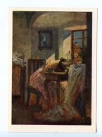 251762 Czechoslovakia Josef Manes Seamstress Old Postcard - Other Illustrators