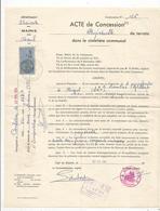 Acte De Concession Perpétuelle , Cimetière Communal De NIEUL , Charente, 1964 , Timbrée ,cachet , Frais Fr 1.45e - Old Paper
