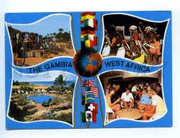 250865 WEST AFRICA GAMBIA Multi-views Collage RPPC To SWEDEN - Gambia