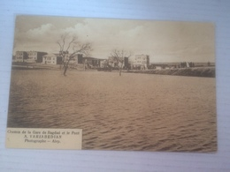 AU - 2100 - IRAK -Bagdad -Chemin De La Gare De Bagdad Et Le Pont -Inondation D'Alep 1922 - Iraq