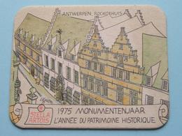 STELLA ARTOIS 1975 Monumentenjaar - L'Année Du Patrimoine Historique ANTWERPEN ( Sous Bock / Coaster / Onderlegger ) ! - Sous-bocks