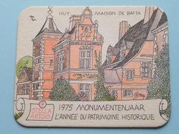 STELLA ARTOIS 1975 Monumentenjaar - L'Année Du Patrimoine Historique HUY ( Sous Bock / Coaster / Onderlegger ) !! - Sous-bocks