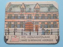 STELLA ARTOIS 1975 Monumentenjaar - L'Année Du Patrimoine Historique GENT ( Sous Bock / Coaster / Onderlegger ) !! - Sous-bocks