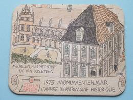 STELLA ARTOIS 1975 Monumentenjaar - L'Année Du Patrimoine Historique MECHELEN ( Sous Bock / Coaster / Onderlegger ) !! - Sous-bocks