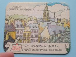 STELLA ARTOIS 1975 Monumentenjaar - L'Année Du Patrimoine Historique ARLON ( Sous Bock / Coaster / Onderlegger ) !! - Sous-bocks