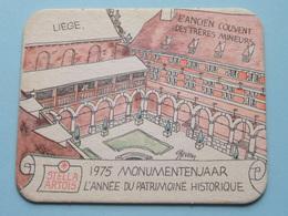 STELLA ARTOIS 1975 Monumentenjaar - L'Année Du Patrimoine Historique LIEGE Liège ( Sous Bock / Coaster / Onderlegger ) ! - Sous-bocks