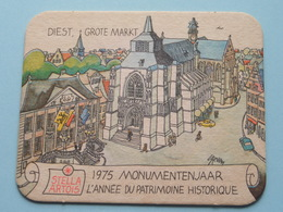STELLA ARTOIS 1975 Monumentenjaar - L'Année Du Patrimoine Historique DIEST ( Sous Bock / Coaster / Onderlegger ) ! - Sous-bocks