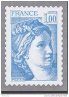= A SAISIR Bloc Gommé Sabine De Gandon 1f00 Bleu Phil@poste Sans Valeur Faciale Représentation Du Timbre 1973 En Bleu - Blocs & Feuillets