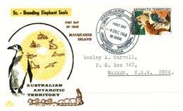 (123) Australia - Cover FDC - AAT - Elephant Seals - 1968 - Macquarie Island Postmark - FDC