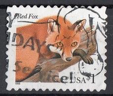 Stati Uniti 2002 Sc. 3036 Volpe Rossa - Red Fox Viaggiati Used USA  United States - Honden