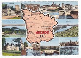 58 Le Département De La Nièvre En 1960 N°1683 Plan & Villes Pougues La Charité Les Settons Nevers Pouilly Cosne Corbigny - France