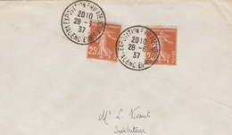 Valenciennes 1937 - BT Exposition Philatélique - Poststempel (Briefe)