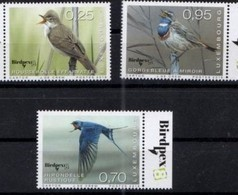 LUXEMBOURG , 2018, MNH, BIRDS, BIRDPEX, 3v - Birds