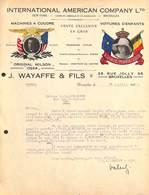 Internation American Company - Machines à Coudre, Voitures D'enfants, Rue Jolly, Bruxelles 1928 Wayaffe - 1900 – 1949