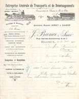 Entreprise Générale De Transports Et De Déménagements Bayeux (Belles Illustrations, 1922) - France