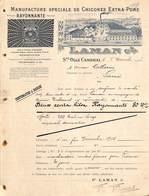 Manufacture Spéciale De Chicorée Extra Pure - Laman & Cie - Ste Olle Cambrai (superbe Illustratrion, 1913) - France